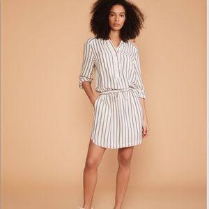 Lou & Grey Shadow Stripe Shirtdress